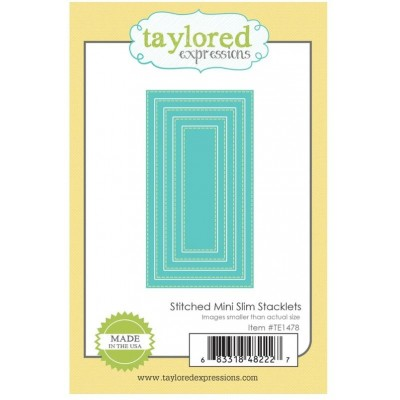 Taylored Expressions - Dies «Stitched Mini Slim Stacklets»  5 pcs