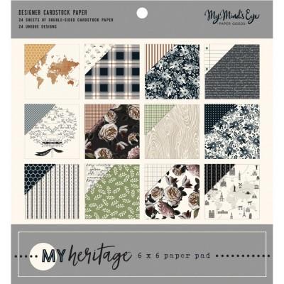 """My Mind's Eye - Bloc de papier «My Heritage»  6"""" X 6"""" 24 pages"""