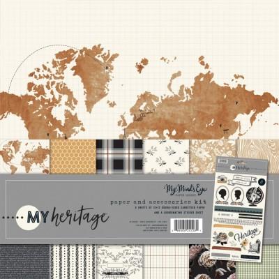 """My Mind's Eye - Bloc de papier «My Heritage»  12"""" X 12"""" 6 pages"""