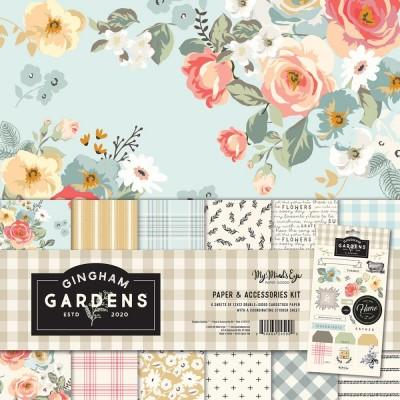 """My Mind's Eye - Bloc de papier «Gingham Gardens»  12"""" X 12"""" 6 pages"""