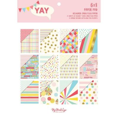 "My Mind's Eye - Ensemble de papier 6"" x 8"" collection «Yay» 24 pages"
