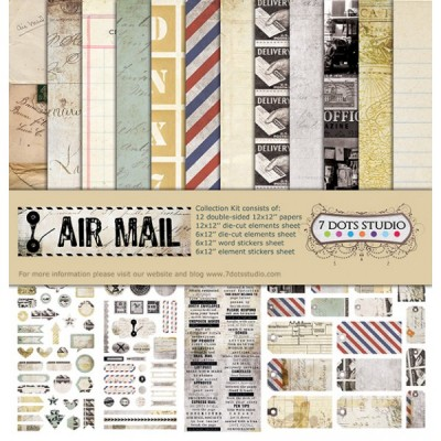 "7 dots Studio - ""Air Mail"" Ensemble de papier 12"" X 12"""