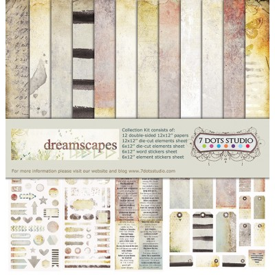 "7 dots Studio - ""Dreamscapes"" Ensemble de papier 12"" X 12"""