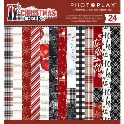 """PRÉCOMMANDE PhotoPlay - Bloc de  papier «Christmas Cheer»  6"""" X 6"""" recto-verso   24 feuilles"""