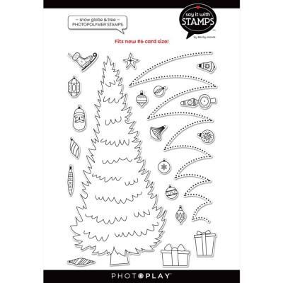 PhotoPlay - Estampe modèle «#9  Trim a tree» de la collection «Say It With Stamps» 20 pcs