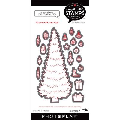 PhotoPlay - Dies modèle «#9 Trim A Tree» de la collection «Say It With Stamps» 19 pcs