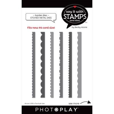 PhotoPlay - Dies modèle «#6 Borders» de la collection «Say It With Stamps» 6 pcs