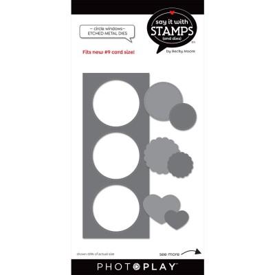 PhotoPlay - Dies modèle «#9 Circle Windows» de la collection «Say It With Stamps» 7 pcs