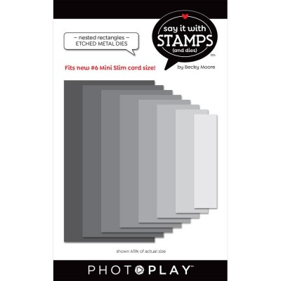 PhotoPlay - Dies modèle «#6 Nested Rectangles» de la collection «Say It With Stamps» 8 pcs