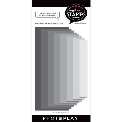 PhotoPlay - Dies modèle «#9 Nested Rectangles» de la collection «Say It With Stamps» 8 pcs
