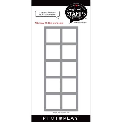 PhotoPlay - Dies modèle «#9 Square Window» de la collection «Say It With Stamps»