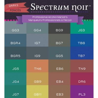 Crafter's Companion -  Spectrum Noir marqueurs à l'alcool série «Dark»