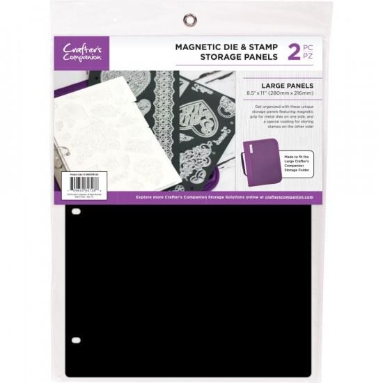 """Crafter's Companion -  Feuilles de rangement magnétiques 8.5"""" X 11"""" paquet de 2"""