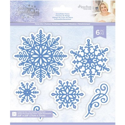 Crafter's Companion - Dies collection «Glittering Snowflakes» modèle «Snowflake Flurry» 6 pcs