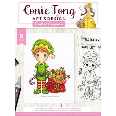 Crafter's Companion - Estampes claires «Santa's Little Helper» 9 pcs