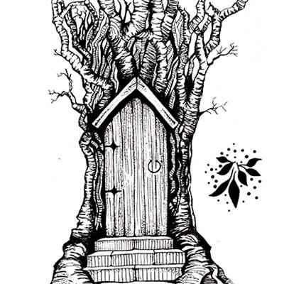 Lavinia - Estampe «Fairy Door»
