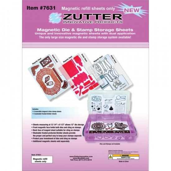 """Zutter - Feuilles (3) pour rangement magnétique    12.25"""" X 8.5"""""""