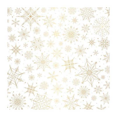 "Pink Paislee -  Vellum «Snow flake» 12"" X 12"""