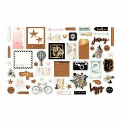 American Crafts - Éphéméra Heidi Swapp «Magnolia Jane» 54 pcs