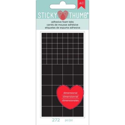 Sticky Thumb - Mousse adhésive carré 272 pièces