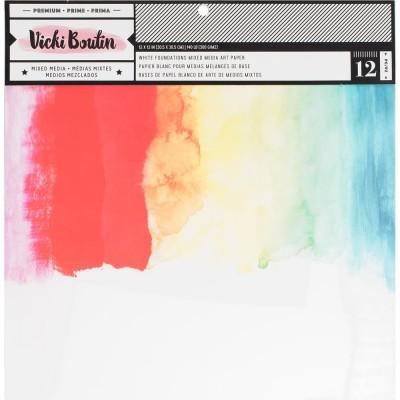 "Vicki Boutin - Ensemble de papier «Mixed Media» 12""X12""  12 pages"