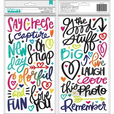 American Craft - Thickers collection «Colorful Phrase» 89 pièces