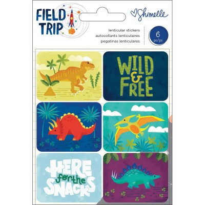 American Craft - autocollant «Field Trip dinosaurs» 6 pièces