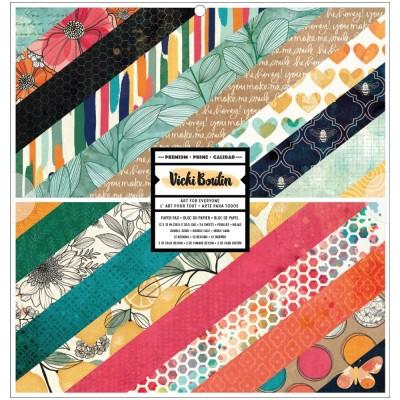 "Vicki Boutin - Ensemble de papier 12"" x 12"" collection «Wildflower and Honey» 24 pages"