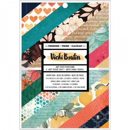 "Vicki Boutin - Ensemble de papier 6"" x 8"" collection «Wildflower and Honey» 24 pages"