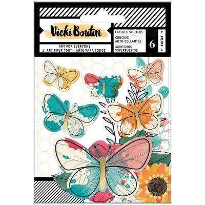 Vicki Boutin - Ensemble d'autocollants collection «Wildflower and Honey» 6 pièces