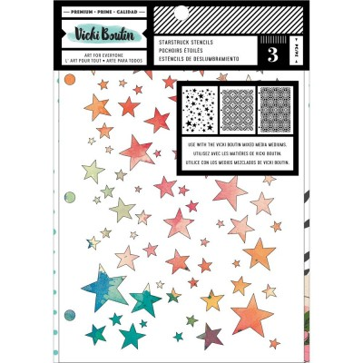 Vicki Boutin - Ensemble stencil collection «Let's Wander-Starstruck» 3/paquet