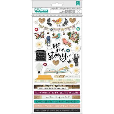 American Craft - Thickers collection «Storyteller Phrase & Words» 73 pièces
