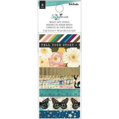 Vicki Boutin - Ensemble de washi tape collection «Storyteller» 8 rouleaux