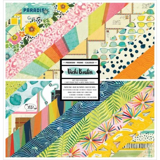 """Vicki Boutin - Ensemble de papier 12"""" x 12"""" collection «Let's wander» 24 pages"""
