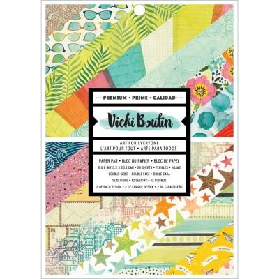 """Vicki Boutin - Ensemble de papier 6"""" x 8"""" collection «Let's wander» 24 pages"""