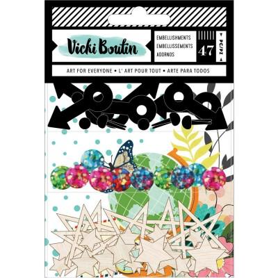 Vicki Boutin - Ensemble d'autocollants collection «Let's Wander» 6 pièces