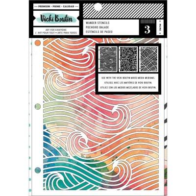 Vicki Boutin - Ensemble stencil collection «Let's Wander-Wander» 3/paquet