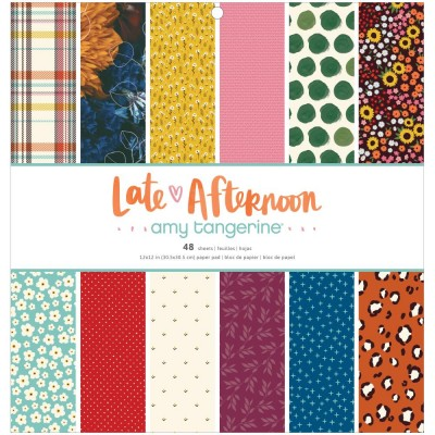 "American Crafts - Ensemble de papier «Late afternoon» 12 ""X12"" recto 48 feuilles / Pqt"