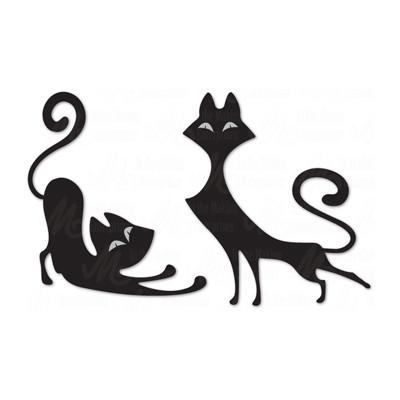 Dee's Distinctively- Dies «Retro Cats 3» ensemble de 2 pièces