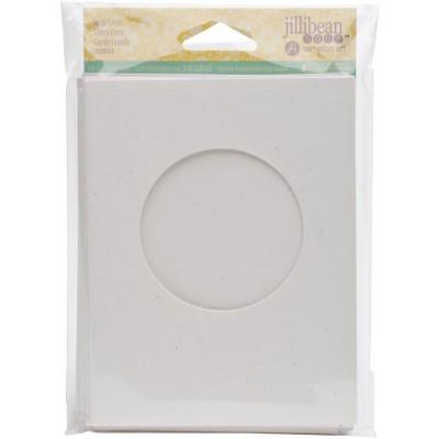 """Jillibean Soup - Cartes «Shaker Cercle» et enveloppe de 5.5"""" x 4.25"""" paquet de 6"""
