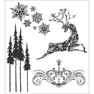 Tim Holtz  -Stampers Anonymous «Reindeer Flight»  4 modèles différents