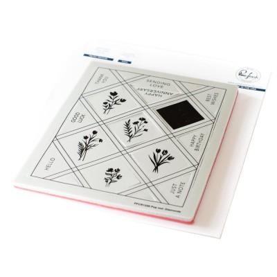 Pinkfresh Studio - Estampes modèle «Pop-Out Diamonds» 15 pcs