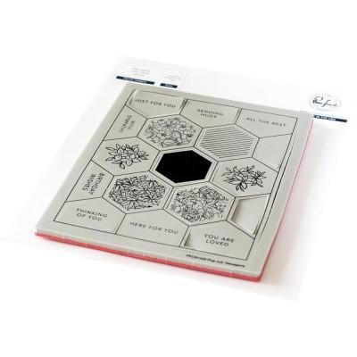 Pinkfresh Studio - Estampes modèle «Pop-Out Hexagons» 18 pcs