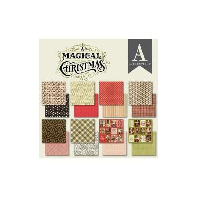 """Authentique - Bloc de papier 6"""" X 6"""" double face «A Magical Christmas» 24 feuilles"""