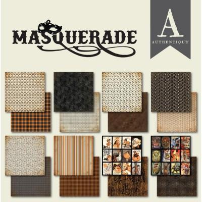 """Authentique - Bloc de papier 6"""" X 6"""" double face «Masquerade» 24 feuilles"""