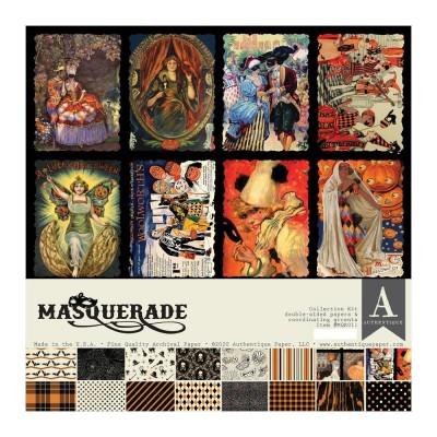 """LIQUIDATION-Authentique - Bloc de papier «Masquerade» 16 feuilles 12"""" X 12""""  double face (le prix indiqué est déjà réduit de 50% ci-dessous)"""