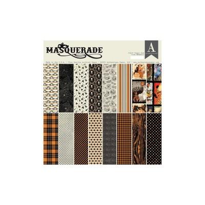 """Authentique - Bloc de papier «Masquerade» 18 feuilles 12"""" X 12""""  double face"""