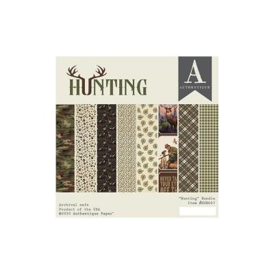 """Authentique - Bloc de papier 6"""" X 6"""" double face «Hunting» 24 feuilles"""