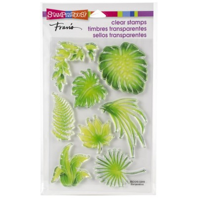Stampendous - Estampe «Jungle Greenery» 9 pcs