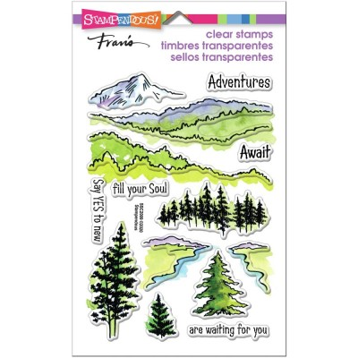 Stampendous - Estampe «Adventure Awaits» 14 pcs